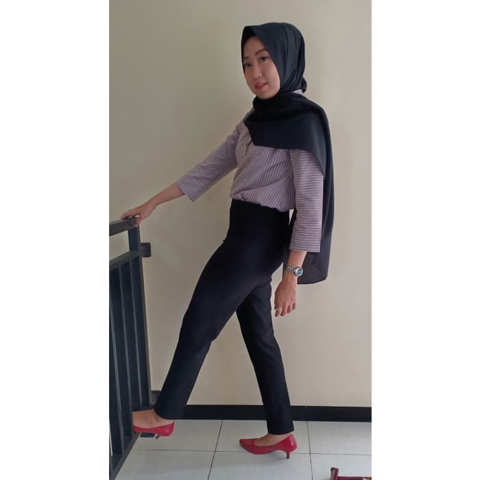 Jual Terfavorit Celana Legging Wanita Terbaru Warna Black Hitam Size L Top Kab Temanggung Celana Legging Tebal Tokopedia