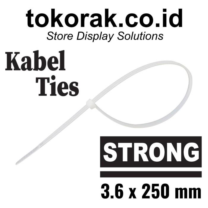 Foto Produk KABEL TIES 25CM X 3,6 NATURAL - KABEL TIS - CABLE TIE - PENGIKAT KABEL dari SINAR KARYA RAKINDO