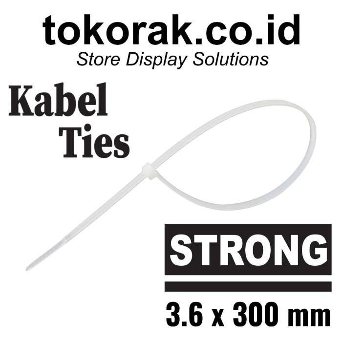 Foto Produk KABEL TIES 30CM X 3,6 NATURAL - KABEL TIS - CABLE TIE - PENGIKAT KABEL dari SINAR KARYA RAKINDO