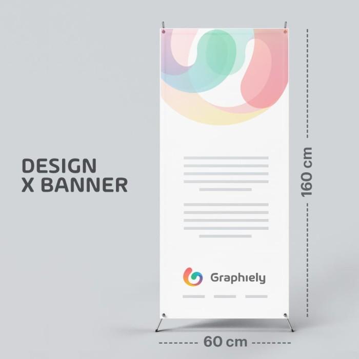 Jual Custom Desain X Banner Untuk Promosi 60x160cm Jakarta Utara Graphie Tokopedia