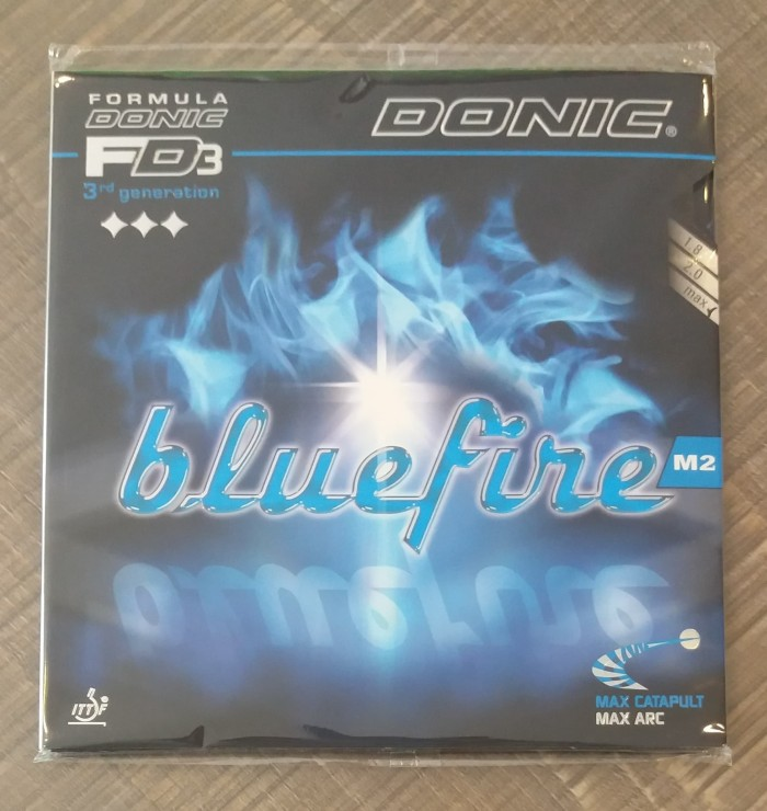 harga Donic bluefire m2 - black - rubber/karet pingpong tenis meja bat bet Tokopedia.com