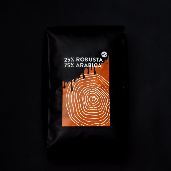 Foto Produk Biji Kopi 1kg 75/25 whole bean coffee es kopi susu grosir blend dari SPACE Company