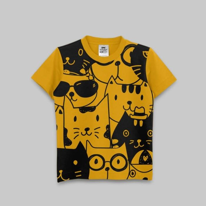 harga Kaos anak by schatje new arrival nerd cat mustard - 6-7 tahun Tokopedia.com