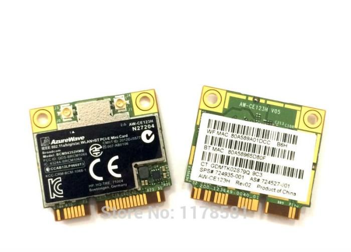Jual AW-CE123H BCM4352 BCM94352HMB Half Mini PCIe PCI-express Wireless -  Kota Surabaya - Pajero Mart   Tokopedia