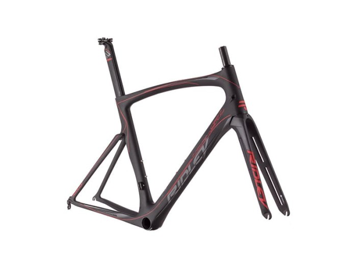 Jual Ridley Noah SL NSL-01Am Black Red Roadbike Frameset