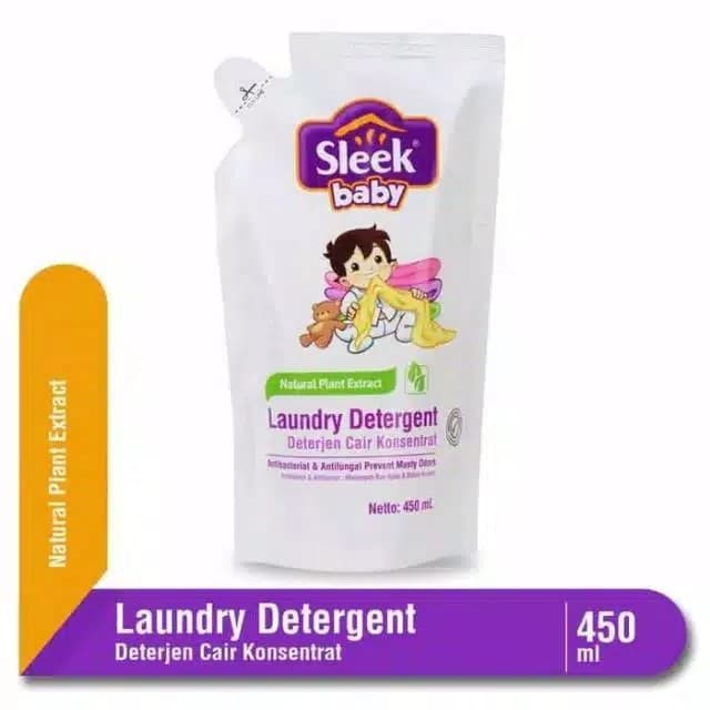 Foto Produk Sleek Baby Laundry 450ml Ekstra 20% 450ml+90ml dari Gerobak Susu