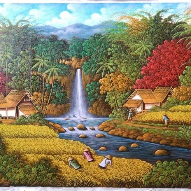 Jual Lukisan Alam Kab Sukabumi Saruva Store Tokopedia