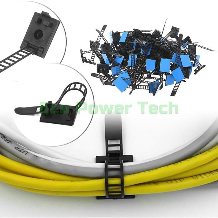 Foto Produk Klip Tali Pengikat Kabel Bisa Disesuaikan Adjustable Cable Clips P dari Eco Power Tech