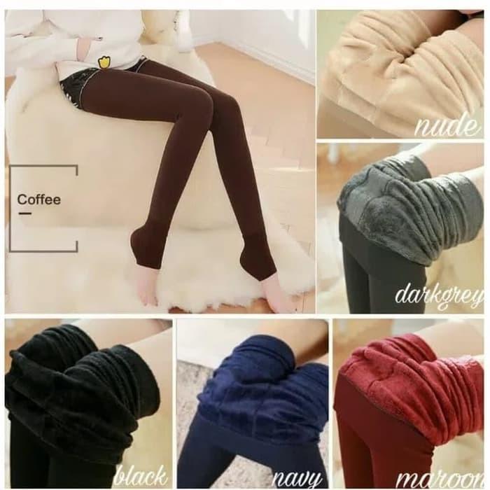 Jual Celana Murah Celana Legging Thermal Winter Musim Dingin Perempuan Jakarta Barat Hattaqq Tokopedia
