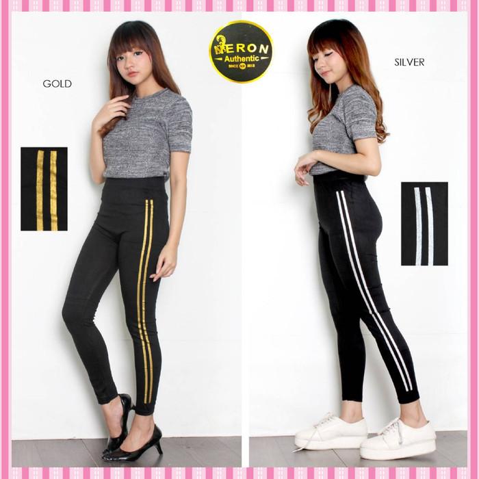 Jual Celana Wanita Celana Legging Wanita Stripe Garis 2 Leging Fashion Jakarta Barat Shift Fashionn Tokopedia
