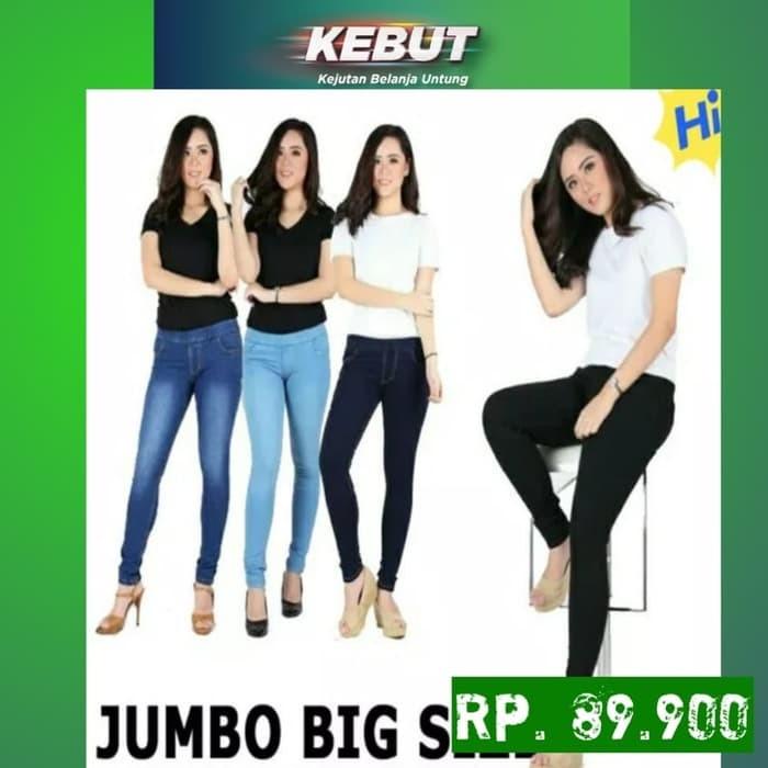 Jual Celana Legging Jeans Big Size 35 38 Jeans Pinggang Karet Jumbo Jakarta Pusat Jk Pro Fashion Tokopedia