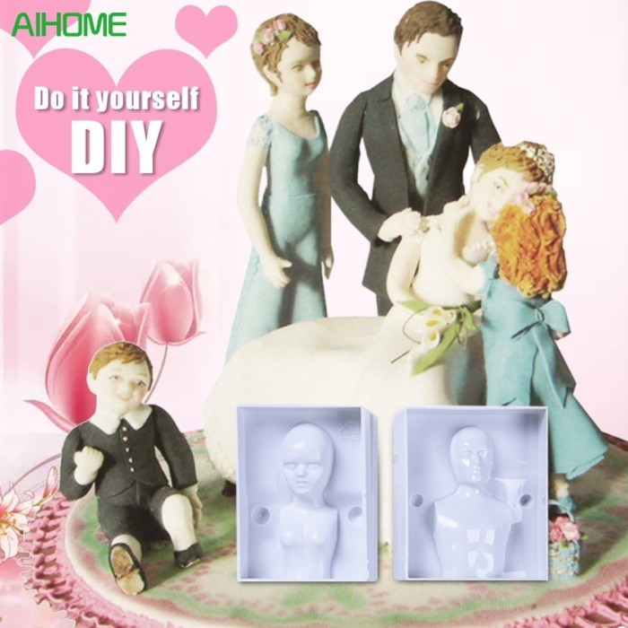 Family Human Body Decorating Mould 3D People Shaped Baking Fondant Cake Molds DIY Pastry Baking Mould Bakeware to Create Men Women Children