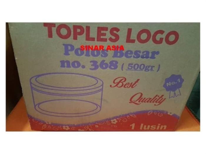 Jual Toples Plastik Kue Makanan Polos Besar Logo 368 500gr 1 Lusin