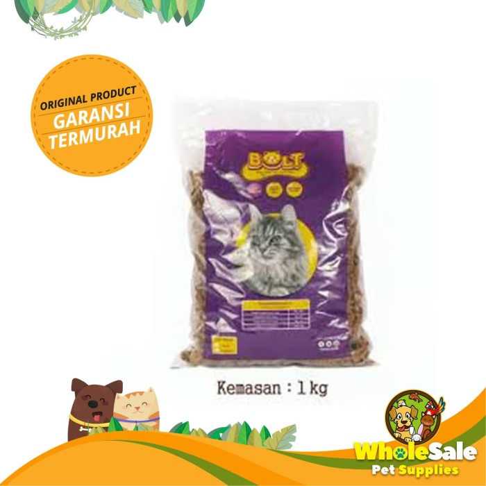 Foto Produk MAKANAN KUCING BOLT REPACK 1KG - PRODUK ASLI - KIBBLE IKAN dari Wholesale Pet Supplies