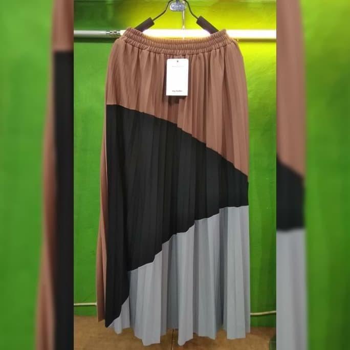 eae7fd4b27 Jual New Longskirt Rok Panjang Maxi Plisket Import Velvet Premium ...