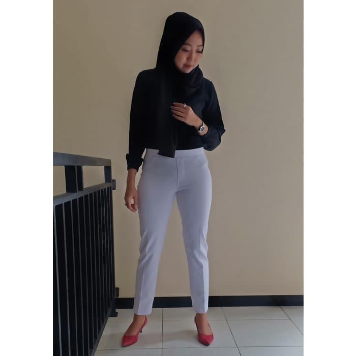 Jual Terfavorit Celana Legging Wanita Terbaru Warna White Putih Size Xl Kab Temanggung Legging Bahan Tebal Tokopedia
