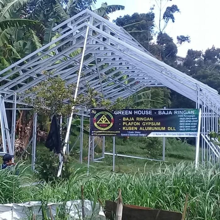 Gambar Kanopi Jendela Dari Kayu  jual rangka green house baja ringan kota bandung atmk tokopedia