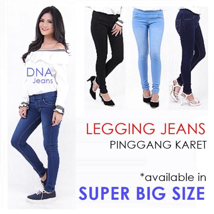 Jual Size 2842 Celana Panjang Legging Jeans Wanita Pinggang Karet Kota Surabaya Gayaonline Tokopedia