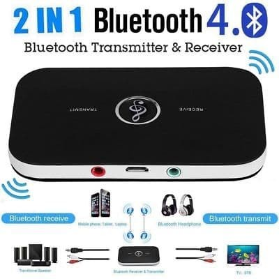 Bluetooth V4.1 Transmitter Wireless A2DP Audio RCA to 3.5mm Aux USB Adapter Hub