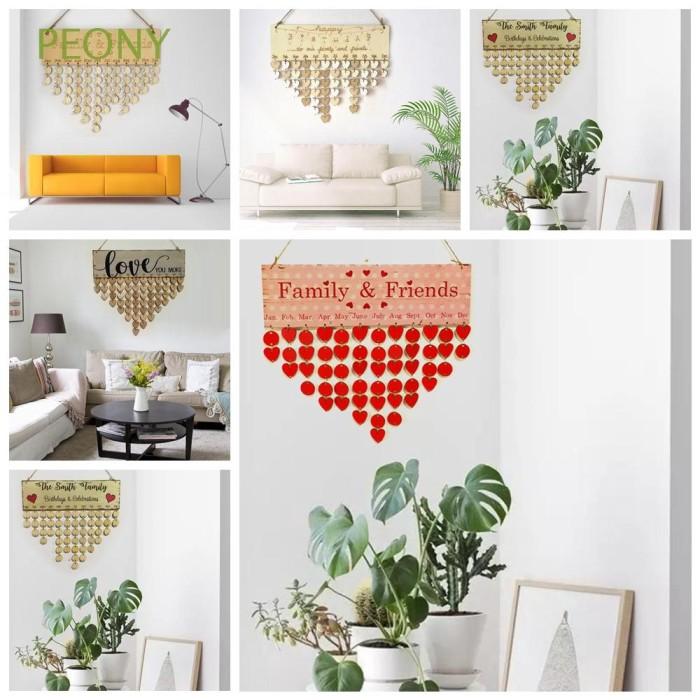 Jual Diy Gifts Sign Party Supplies Home Decor Wooden Calendar Jakarta Barat Azizah Store Id Tokopedia