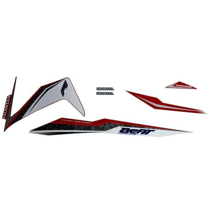Foto Produk Sticker Body Kiri Merah Putih - New BeAT eSP 871X0K81N00ZBL dari Honda Cengkareng