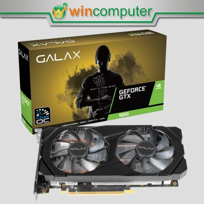 Foto Produk Galax Geforce GTX 1660 6GB DDR5 (1-Click-OC) - Dual Fan dari Win Computer