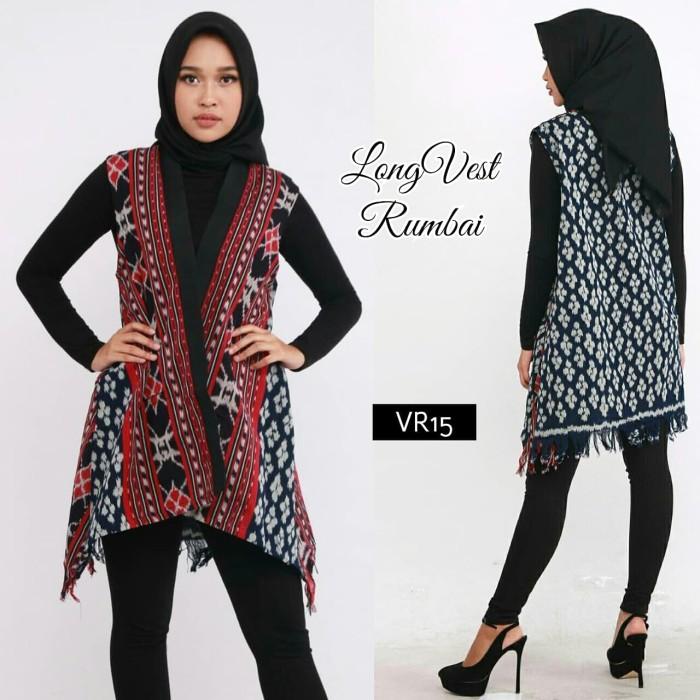 harga Tenun long vest rumbai ethnic cardigan batik etnik cardi outer outwear Tokopedia.com