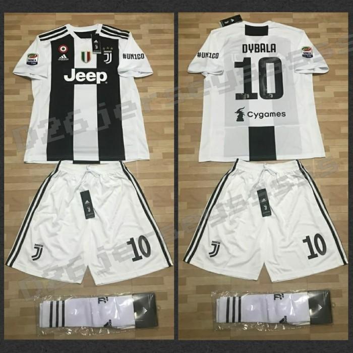 best website 86bf2 ea38b Jual Jersey Juventus home UN1CO Full KIT 2018 / 2019 + Cetak nama + Patch -  DKI Jakarta - D26Jersey | Tokopedia