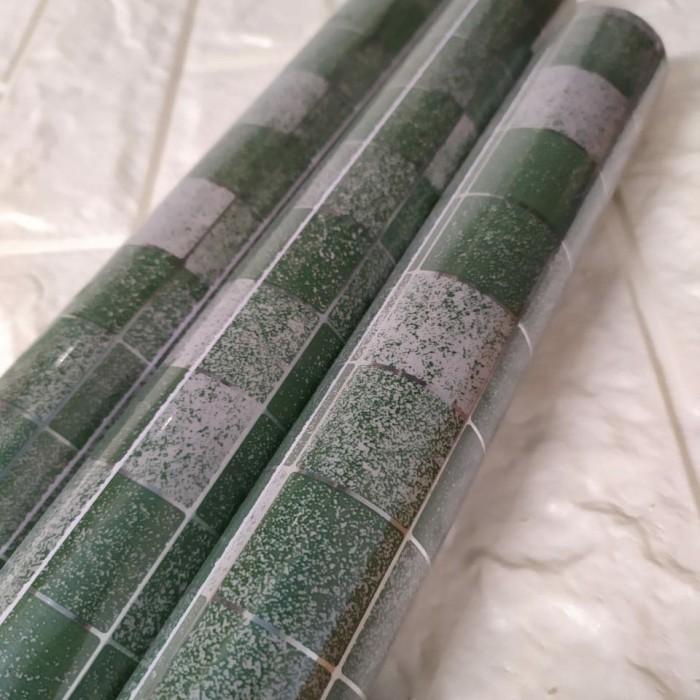 Foto Produk Sticker dapur hijau 45 cm x 5 mtr || Sticker dapur dari dedengkot wallpaper