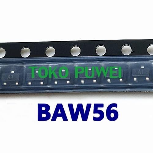 Foto Produk BAW56 BAW 56 BAW56LT1G BAW56 LT1G A1 SOT-23 DC15 dari toko puwei