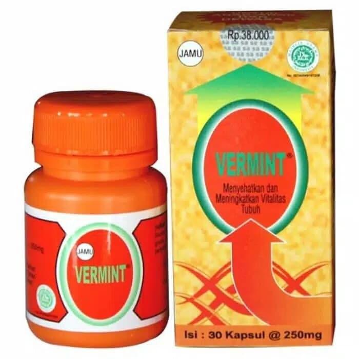 Foto Produk VERMINT isi 30 kapsul Obat Tifus Tipes dari Ajiyashop