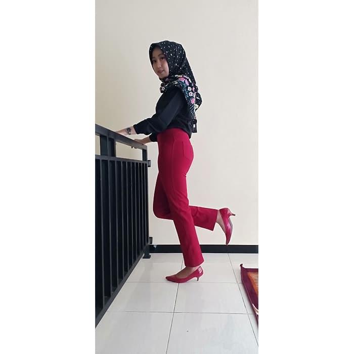 Jual Terfavorit Celana Legging Wanita Terbaru Warna Merah Maroon Size L Kab Temanggung Celana Legging Tebal Tokopedia