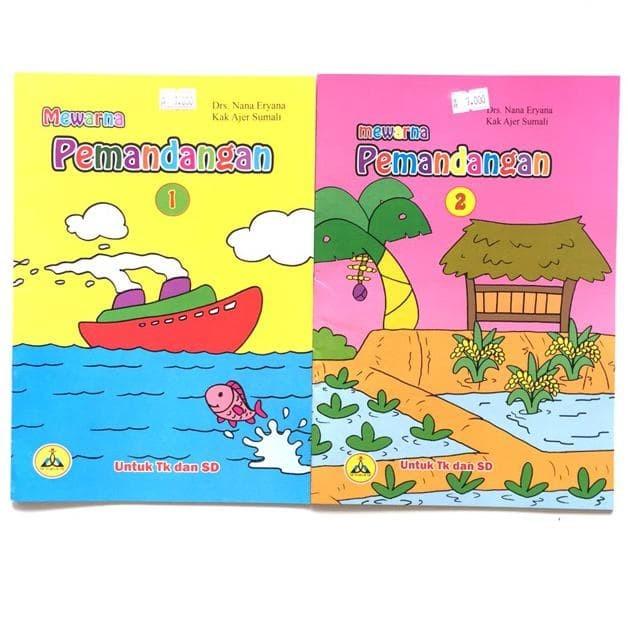 Jual Buku Tk Buku Paud Buku Mewarnai Pemandangan Juara Kab Ponorogo Lindenbam Tokopedia