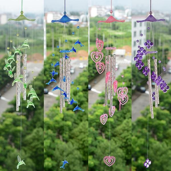 Foto Produk New Style Heart Tubes Wind Chimes Home Garden Decorations for Lover dari W brands Store