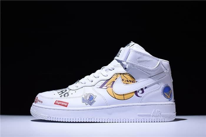 Jual Nike Air Force 1 mid NBA x Supreme