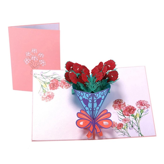 Jual Carnation Greeting Cards Handmade Birthday Wedding Invitation 3d Card Jakarta Barat Orind Store Tokopedia
