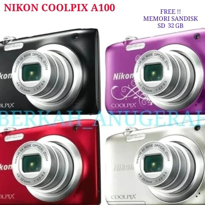 harga Kamera coolpix nikon a100 20.1 mp free memory sandisk sd 32 gb Tokopedia.com
