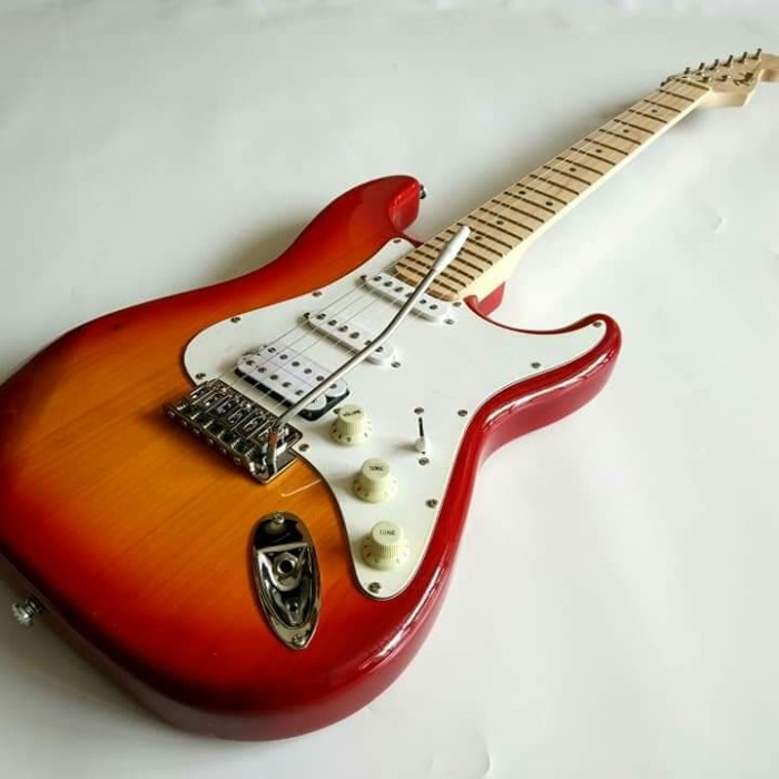 harga Gitar listrik fender stratocaster cerry neck mapple murah Tokopedia.com