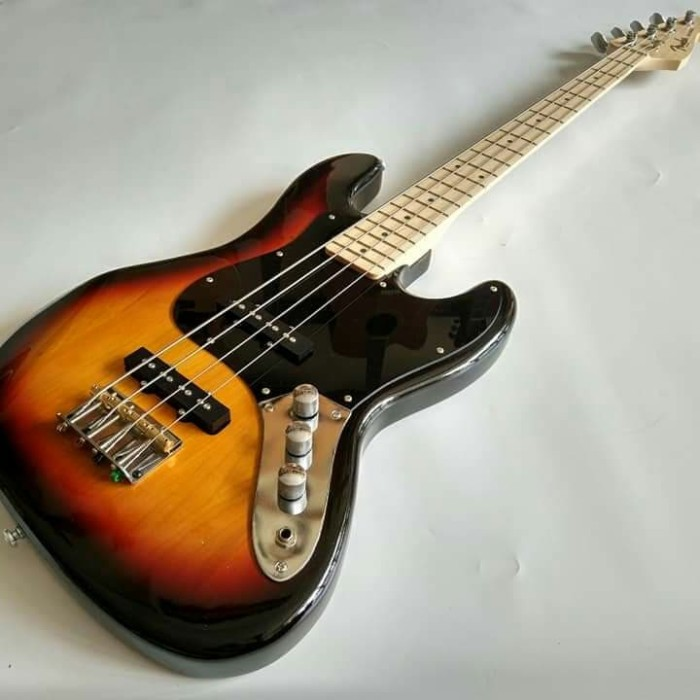 harga Gitar bass fender jazz sunburs neck mapple murah Tokopedia.com