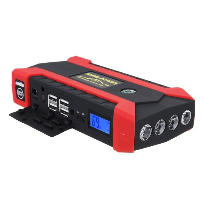 69800mAh Car Jump Starter Booster Jumper Box 4USB LCD Power Bank Battery Charger