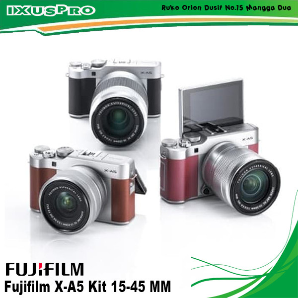 harga Fujifilm x-a5 kit 15-45mm - kamera fuji film xa5 + lensa 15-45mm Tokopedia.com