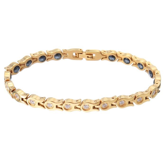 Therapy Gold Chain Bracelet Zirconia