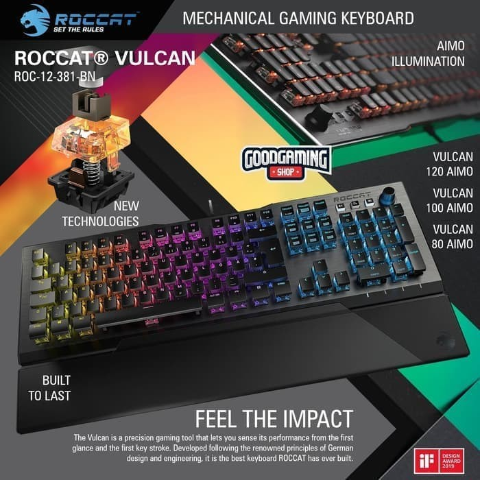 Foto Produk Roccat Vulcan 100 AIMO - Gaming Keyboard dari VS Flazz SHOP