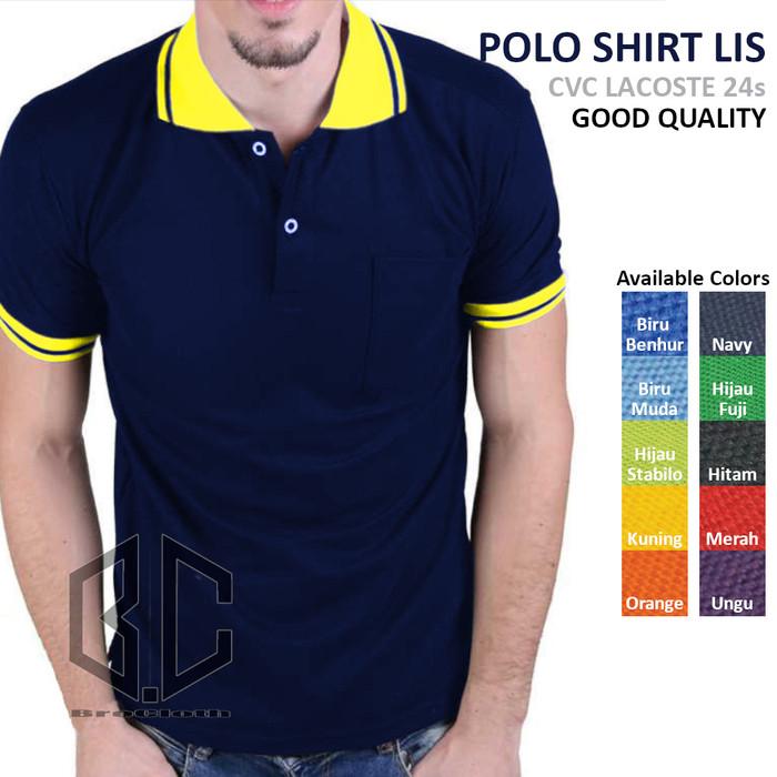 Jual Kaos Polo Shirt Navy Biru Dongker Lis Kuning Lengan Pendek Navy Gold L Jakarta Utara B C Shop Tokopedia