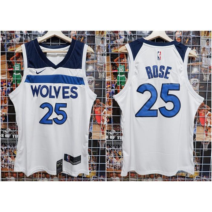 online store a17ac 8dff3 Jual JERSEY NBA WOLVES #25 ROSE PUTIH 18-19 - Kota Batam - Kwek.Nelsonshop  | Tokopedia