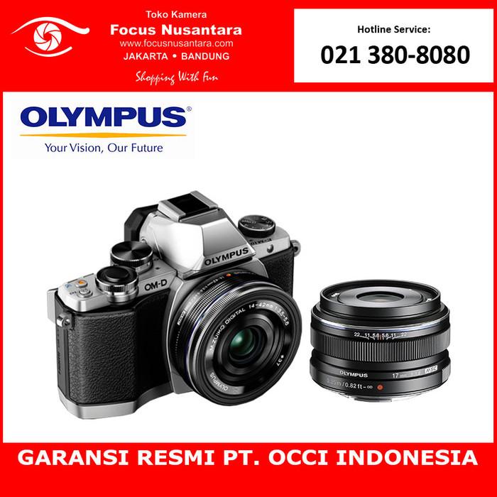 harga Olympus om-d e-m10 mark ii (silver) kit 14-42mm ez + 17mm f18 Tokopedia.com