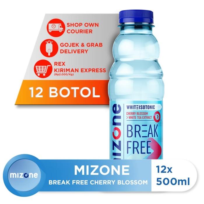 harga Mizone isotonik bernutrisi break free cherry blossom 500ml (12 botol) Tokopedia.com