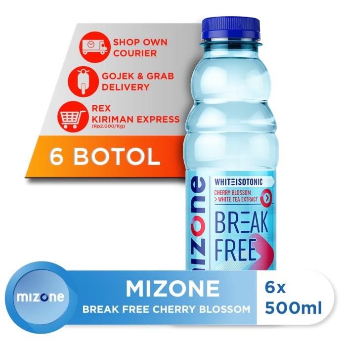 harga Mizone isotonik bernutrisi break free cherry blossom500ml(6 botol) [p] Tokopedia.com