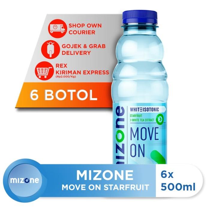 harga Mizone isotonik bernutrisi move on starfruit 500ml (6 botol) [p] Tokopedia.com
