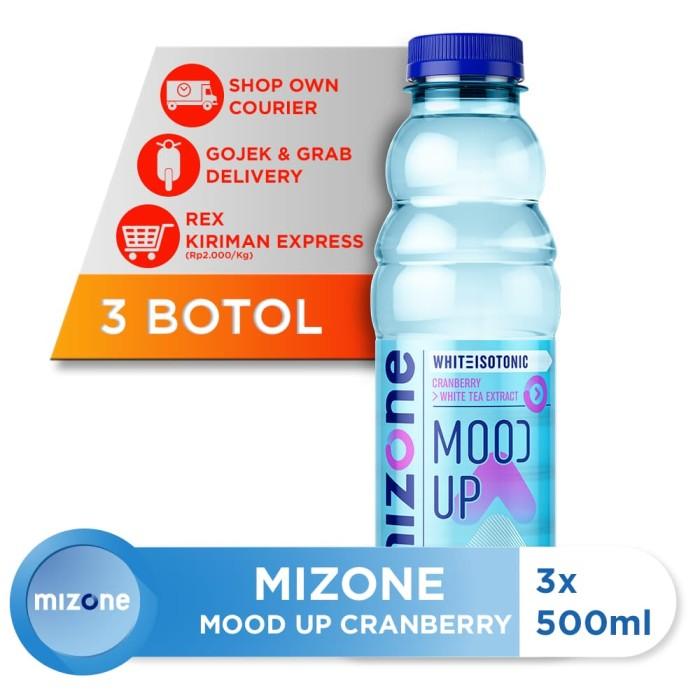 harga Mizone isotonik bernutrisi mood up cranberry 500ml (3 botol) [p] Tokopedia.com